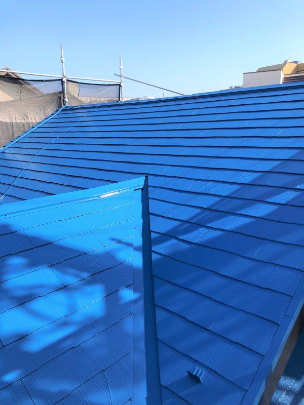 屋根上塗り状況4
